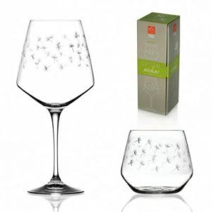 Set 1 pahar pentru vin si pahar Crystal Whishes Green