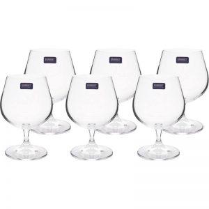 Set 6 pahare cristalit,pentru coniac - 400 ml / Bohemia-Banquet collection